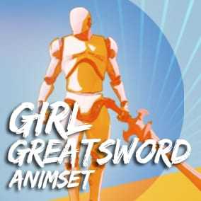 Girl_GreatSword_AnimSet + 72 animation + 8pose