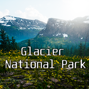 This package contains a 400 Km2 Landscape totally playable. This land has been totally created from satellite real world data (Glacier National Park, Montana)