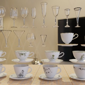 Goblets , Coffee Cups , Coffee Plates
