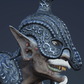 Character is perfect to play NPC monster evil warrior for a first person or 3rd person games.