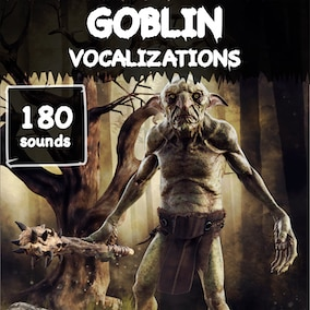 A goblin vocalization sound library with 180 high-quality small-monster sound effects, ready for use in the video game and trailer.
