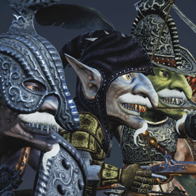 5 Low polygonal game ready animated goblin characters.