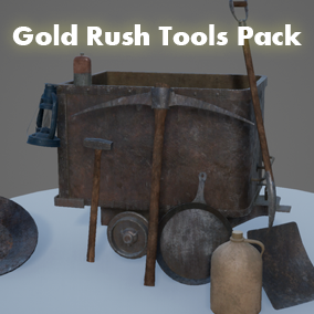 Gold Rush Tools Pack for realistic cowboy era environments.