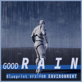 GOOD RAIN is pack that helps you to add some realistic rain effects and splash to your game.  Also you can adjust amount of rain ,area size, tilt , drop speed and other parameter. Other than that is simple to use,just drag it to your scene.