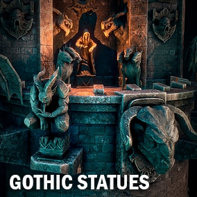 Here you can find couple of gothic statues.