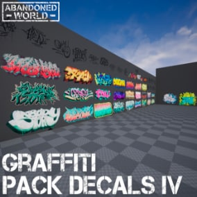 A package containing many different graffiti and tags.