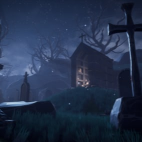A Modular Stylized Graveyard, Cemetery Environment To Unleash Your Imagination!