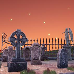 Stylized Graveyard