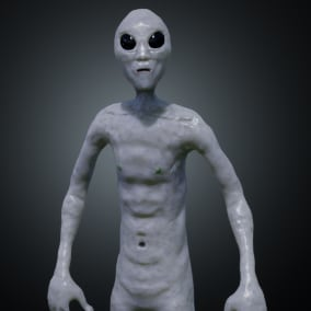 A Classic Sci-Fi Grey Alien. Rigged for the UE4 Skeleton.
