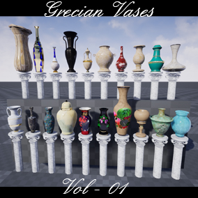 Grecian Vases Vol 01 Suited for Mobile or Pc Games or xbox or ps4