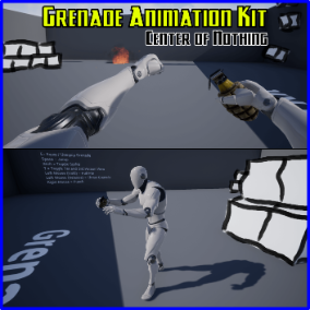 Fully animated 4K MK2 Grenade Skeletal Mesh with matching First-person and Third-person animations for the Unreal Epic Skeleton.