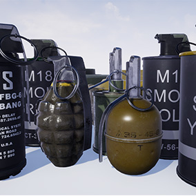 This pack include 8 grenades and 2 mines.