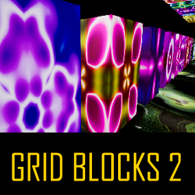 Grid Blocks 2 is a high resolution collection of Textures and Materials to help with any project.