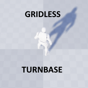 Gridless Turnbase template based on Action points
