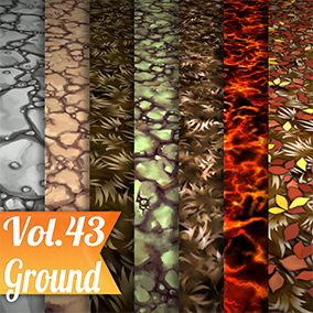 8 Hand painted tiled textures. Great for desktop or mobile games.