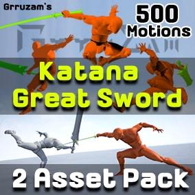 Katana / GreatSword Stylish Action Animation for Action RPG / Roguelike Game.