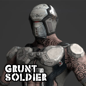 Grunt Soldier is a high quality, affordable enemy-oriented character for your project.