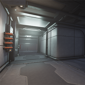 The 2nd pack of a set of modular pieces to create sci fi styled environments.