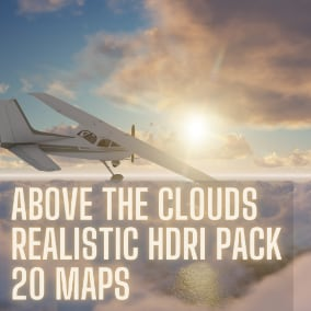 Above the clouds HDRI pack for realistic cloud 3d renders
