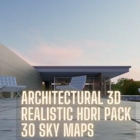 30 HDRI sky maps designed specifically for 3d archviz