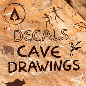 120 Prehistoric Cave Drawings Decals