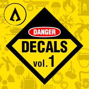 100 High Quality Danger Signs Decals