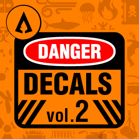 100 High Quality Danger Sign Decals