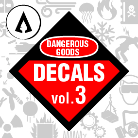 60 High Quality Dangerous Goods Decals