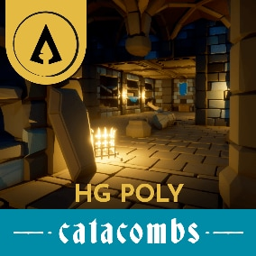 Hotgates presents - A low poly asset pack full of modular pieces and props to ceate a medieval catacomb and dungeon..