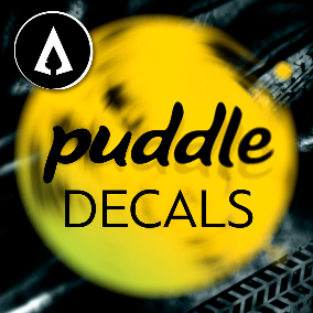 30 Puddle Decals