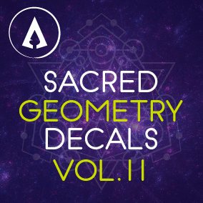 80+ High Quality Sacred Geometry Decals