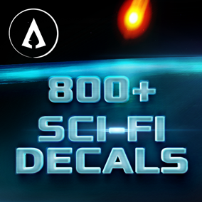 800+ fully customisable Sci-Fi Decals designed with ease of use and scalability in mind.