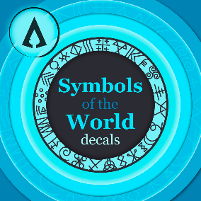 314 Symbols of the world as decals