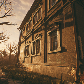 An atmospheric abandoned school of the previous century