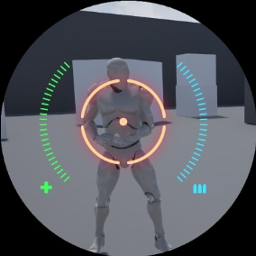 A HUD assets pack with crosshairs and indicators(Health, ammo, etc) fully customizable