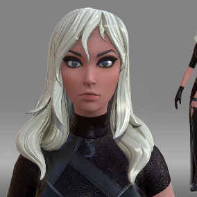 Female Character in Fantasy Art Style