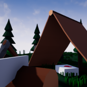 A small collection of assets to create a low poly campground