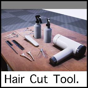 You can arrange the tools to cut someone's hair.