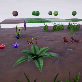 Hand Painted Plants and Materials Pack