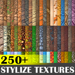 246 Hand painted tiled textures. Great for desktop or mobile games.