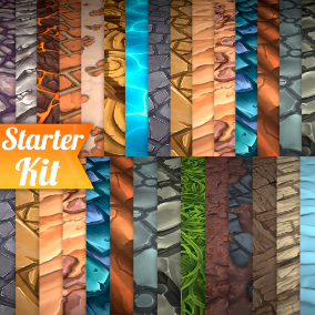 21 Hand painted tiled textures. Great for desktop or mobile games.