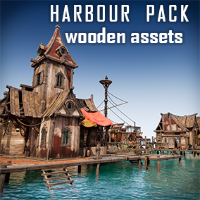 These modular assets can be used for ships, wooden houses, shipwrecks, and other wooden environments.
