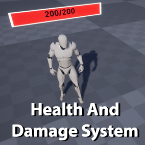 A system for sending damage events between actors, and managing the health of an actor with a large number of options, including weak spots, resistances, shields, and more.