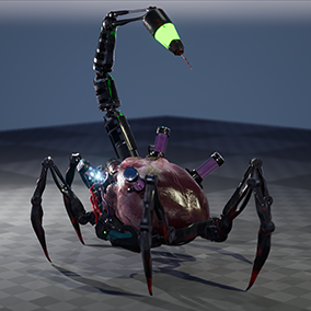 Cyber bot for horror or sci-fi projects.