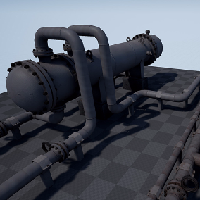 High quality PBR models, for the creation industrial landscape.