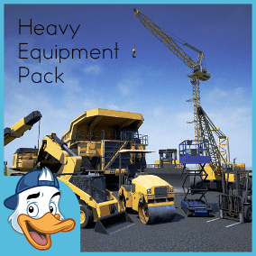 Heavy Equipment Pack is a perfect vehicles pack for any kind of industrial environments.