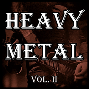 The Heavy Metal Vol. II pack focuses on powerful heavy metal/hard rock music.