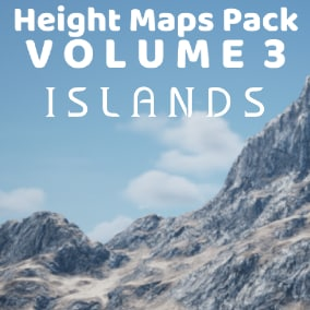 102 4033 x 4033 HeightMaps Island Landscapes + 8 ready to explore maps, just add a plane, water and landscape materials!