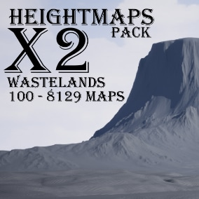 100 - 8129 x 8129 heightmaps