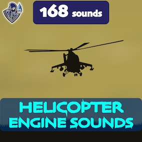 This is a package of helicopter engine sounds, including 168 high-quality sound effects, 8 kinds of helicopters. Great for creating realistic and futuristic transport with propellers.